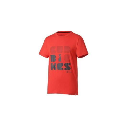 Cube Font T-shirt Piros M-es rövid ujjú póló