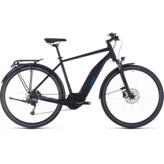Cube TOURING HYBRID ONE 500 black´n´blue 2020 kerékpár