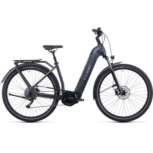 Cube Kathmandu Hybrid One 625 grey'n'teak Easy Entry; 2022 kerékpár