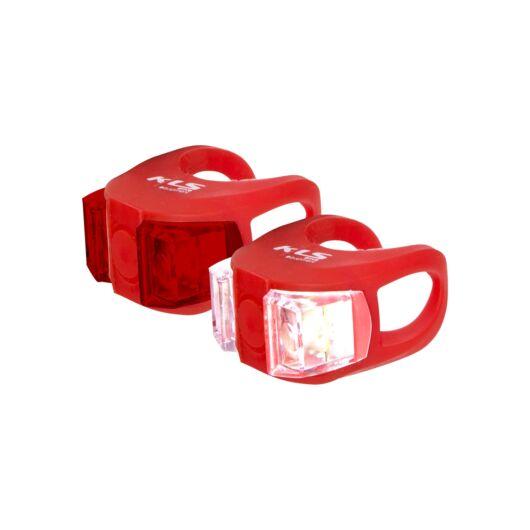 KLS Twins piros kerékpáros lámpaszett