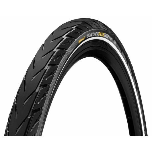 Continental gumiabroncs kerékpárhoz 37-622 Contact Plus City 28x1 3/8x1 5/8 fekete/fekete, reflektoros