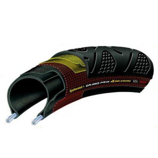 Continental 23-622 Grand Prix 4-Season 700x23C fekete/fekete, DuraSkin hajtogathatós külsőgumi