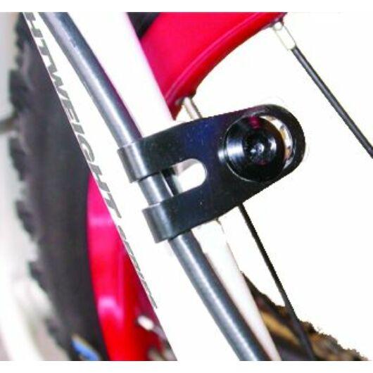 a2Z fékcsőrögzítő FAT V-fék tüske helyére M10-es menettel kábelvezető [fekete]