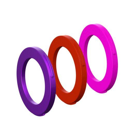 Magura MT féknyereghez gyűrű szett (4 dugattyús) [lila-piros-pink]