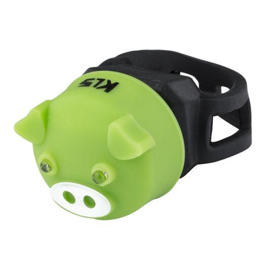 Hátsó világítás KLS PIGGY, green