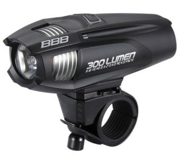 """BLS-71 kerékpáros világítás """"Strike"""" első lámpa, 300 lumen LED fte tölthető lithium ionos 2300 mAh akkuval"""