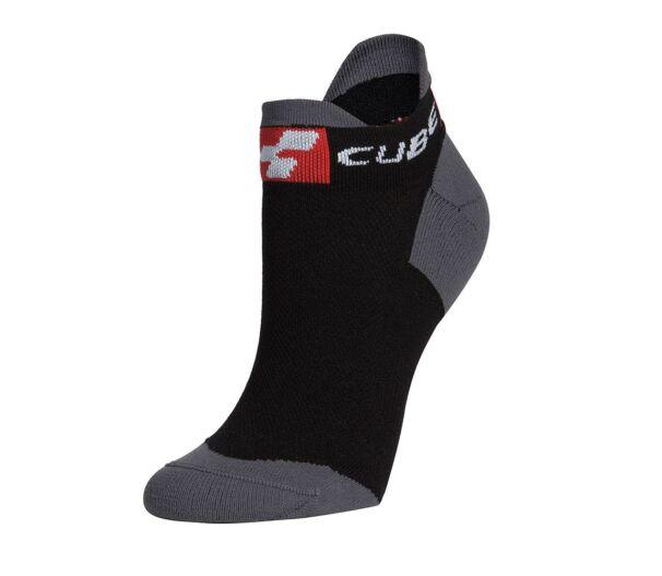 Cube rövid kerékpáros zokni Blackline szín 36-39