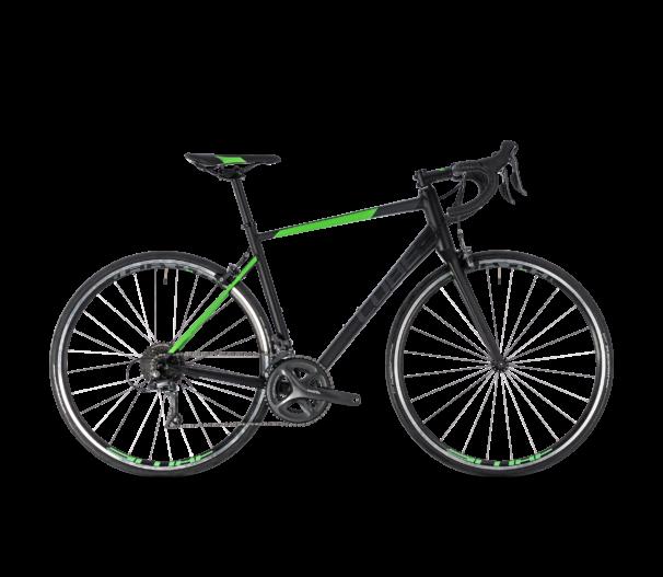 176100  CUBE ATTAIN BLACK´N´FLASHGREEN 2018 47 CM 2018 kerékpár