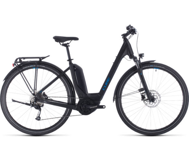 Cube TOURING HYBRID ONE 500 Easy Entry black´n´blue 2020 kerékpár