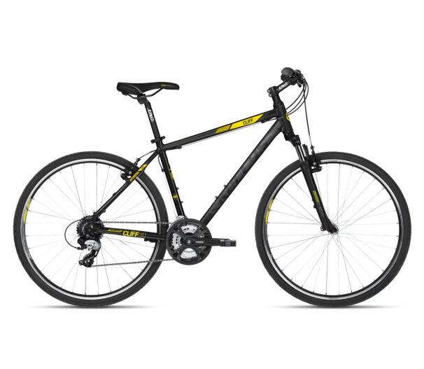 Kellys CLIFF 30 Black Yellow kerékpár 2018