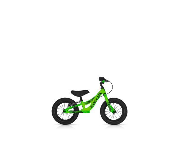 Kellys KITE 12 RACE NEON GREEN futókerékpár fékkel