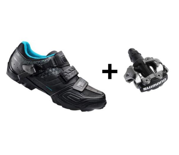 Shimano WM64 fekete kerékpáros cipő