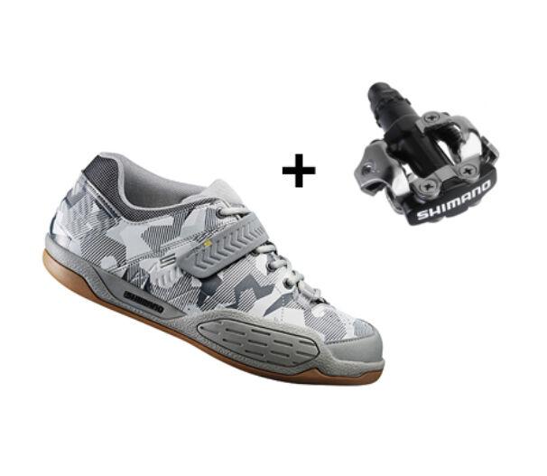 Shimano AM5 Camo kerékpáros cipő