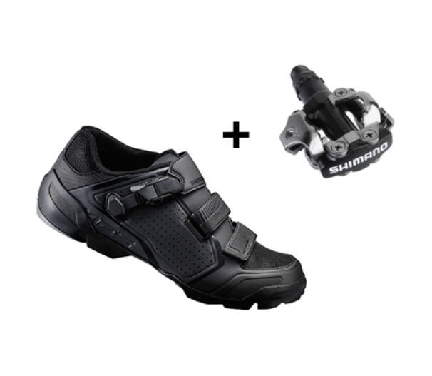 Shimano ME5 fekete kerékpáros cipő