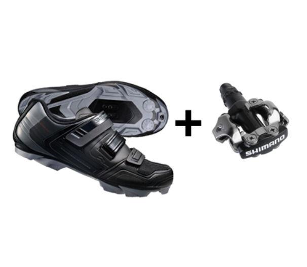 Shimano XC31 fekete kerékpáros cipő
