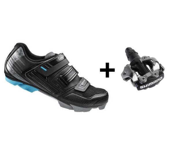 Shimano WM53 fekete kerékpáros cipő