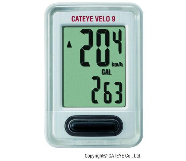 Cateye Velo 9 vezetékes kerékpáros kilométeróra
